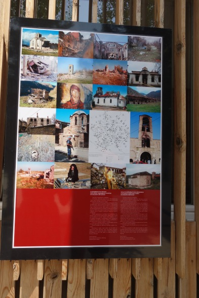 There was also a large photography exhibition displaying photos of destroyed churches in the area and other parts of former Yugoslavia. Google the history of Visegrad and Foca and form your own opinions.