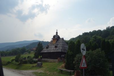 Our first view of Serbia: a super quaint cottage
