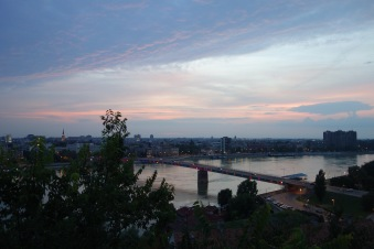 The Danube: a view from Novi Sad!