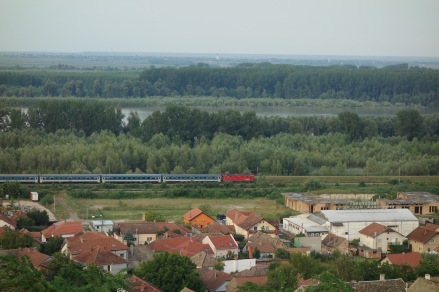 The Danube, the town, and a train