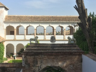 The palace in the Generalife, giving the Islamic kings respite from the work to be done in the Alhambra.