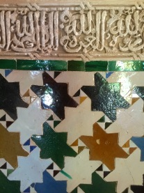 Tiling and plastering in the palaces.