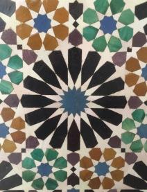 Symmetrical tiling.