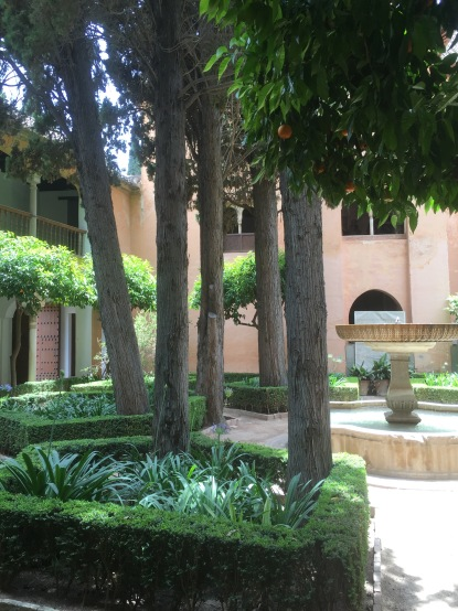 Gardens in the Alhambra.