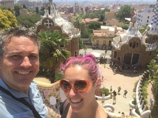 Tourist shot in Parc Guell! This is a view of what was to be the entrance of the housing estate, which was never completed.