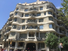Gaudi's take on an office building. Each balcony has an unique railing.