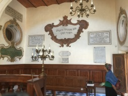 Pitigliano has a long, interesting Jewish history. Here's the Synagogue. (I covered with a towel, I didn't have anything else)