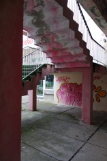 I love how the graffiti artist in Baile Felix really went with the theme in his or her colour choice.