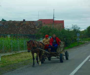 Some of our fellow road-users. This is a Gypsy family, according to Manny.