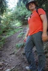 Climbing up steep slopes
