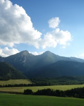 The Tatra Mountains in Slovakia. Sadly we just passed through.