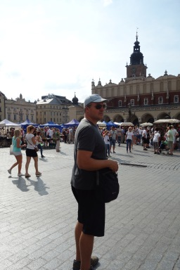 A huge market square in Krakow with lots of incredible artisans whose work I could not afford.