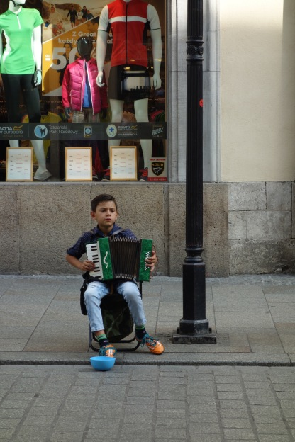 And little boys playing accordian on the street!