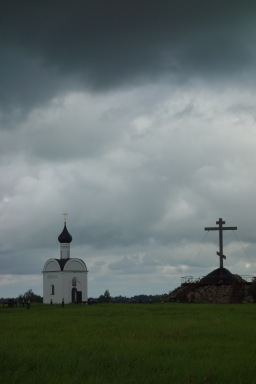 And finally, a tiny gilmpse of Russia. It's not all this gloomy, but it is 70% churches.