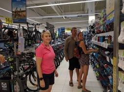 Checking out Oradea's fine purveyor of sporting goods