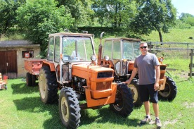 There's a gravitational pull situation with Luke and tractors, especially strong with brightly coloured little ones