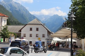 Bovecs. It is one of the gateway towns to the incredible Soca river, and it's a hub for adventure sports. We liked it's vibe.