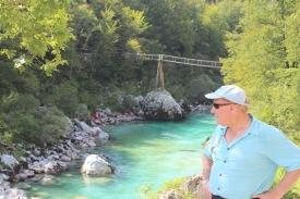 Dad with a bridge we crossed