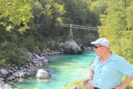 Dad with a bridge we crossed