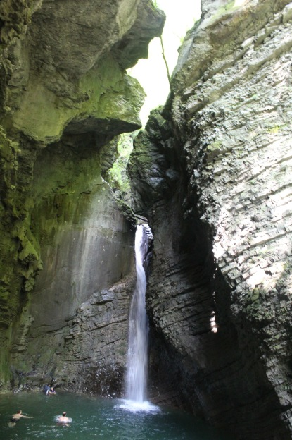 A beautiful waterfall - Slap Kozjac, it's called, which is great.