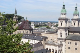 A view of Salzburg from the castle on top of the city
