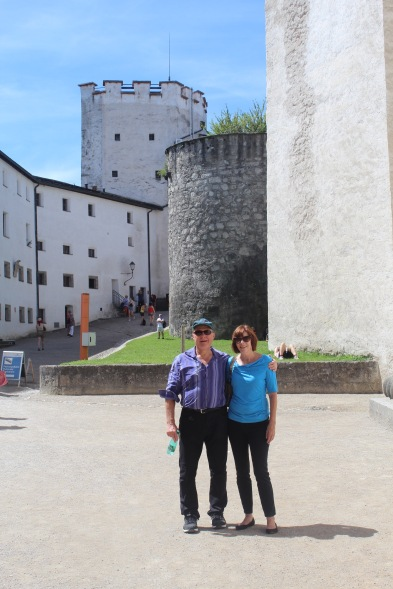 At the castle in Salzburg