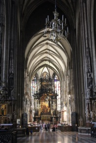 The stunning cathedral in Vienna