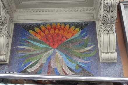 A lovely mosaic in the city - photo for you, Aunt Marjorie!