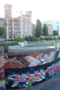 But now, we transition to the neighborhood by the Danube, which is totally covered in graffiti/street art.
