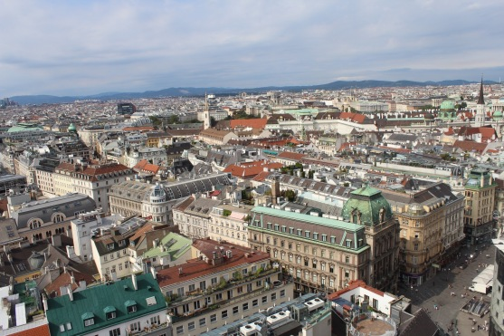 And this was the view of Vienna from the top of the church.