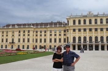 Mom and Dad at Schonbrun Palace, aka the Hapsburg holiday house.