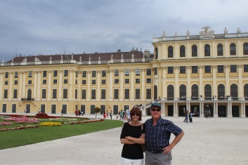Mom and Dad at Schonbrun Palace, aka the Hapsburg holiday house.