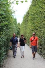 Walking through the gardens.