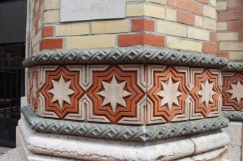 Details on the synagogue.