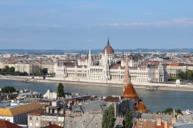 Looking at the Pest side of Budapest