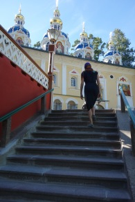 Exploring Pechory Monastery, which is in far Western Russia, on the border with Estonia.