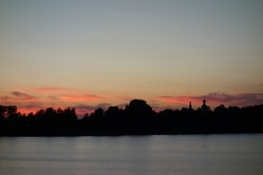 Sunset over Lake Seliger - notice the Monastery spires to the right