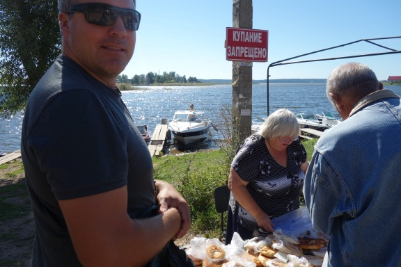We were so thankful there was food on the island. We got a variety of pastries with mystery fillings.
