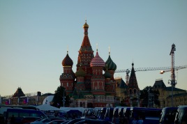This isn't even St Basil's Cathedral! It's in Moscow, but I don't know what it is. It's spectacular, though.