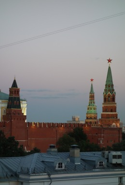 The view of the Kremlin from our room