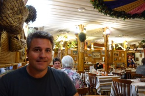 Eating dinner in a charming restaurant selling traditional Russian and Ukrainian food.