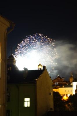 Fireworks over the Kremlin