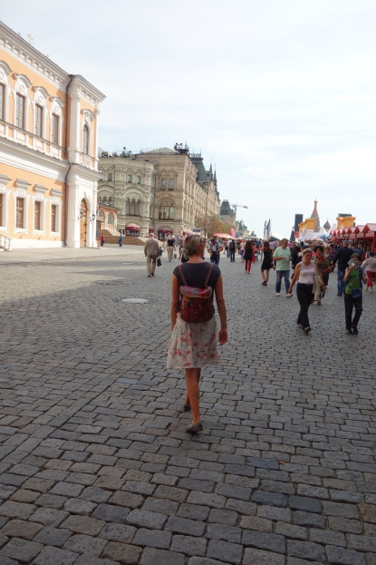Walking in Red Square