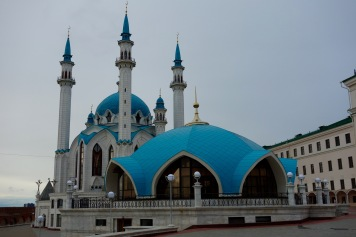 Here's the beautiful new Mosque within the kremlin of Kazan.