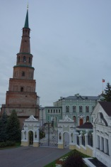 Here's a leaning tower inside of the kremlin in Kazan. Apparently there is some folk story about this, in which a princess throws herself off this tower because she really, really doesn't want to marry a guy. Or something tragic like that.