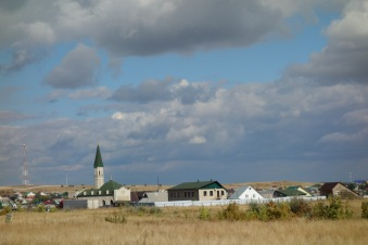 A mosque in a town in Tatarstan, which I keep wanting to call Tartarstan.