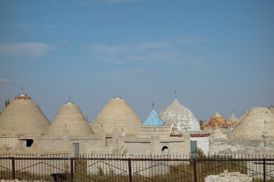 This is one of the cemeteries I mentioned. This one is Muslim - notice the symbols on top of each tomb.