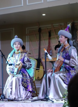 Look at these Kazakh costumes. Suddenly Australia and the US seem soooo boring. I would have loved to have worn this to my concerts.