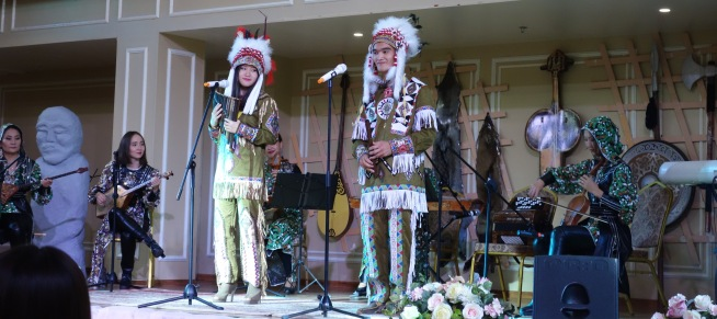 Another costume change for the Kazakhs. I'm going to just blindly believe that this is Kazakh and not an appalling take on Native American.