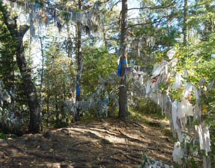 More trees laden with prayers.
